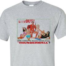 Thunderball T shirt 007 James Bond Girls Sean Connery vintage 60s graphic tee image 1