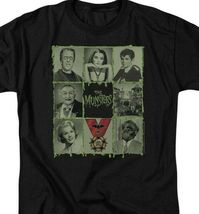 The Munsters graphic t-shirt Munster collage characters retro 60s TV NBC894 image 3