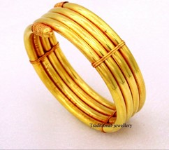 VINTAGE ANTIQUE TRIBAL DESIGN HANDMADE 22K YELLOW GOLD ARMLET ARM BANGLE... - $3,250.36