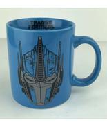Marvel Hasbro Transformers Optimus Prime Blue Coffee Mug Action Movie Logo - $9.49