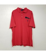 Polo Ralph Lauren Mens Thin Polo Shirt XL Extra Large Classic Fit Red So... - $32.68