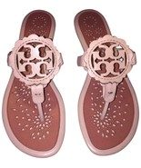Tory Burch Miller Thongs Sandals Pink Scallop Leather Shoes Flip Flops 10.5 - $149.00