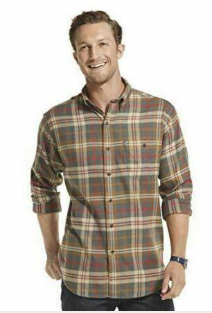 G.H. Bass & Co. Men's Fireside Flannels Long Sleeve - Dark Shadow-XL SEALED!!!