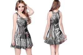 Johnny the Homicidal Maniac  WOMENS REVERSIBLE SLEEVELESS SHORT MINI DRESS - $17.99+