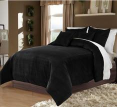 Hotel Collection Bedding,100% Duvet Quilt Cover set 3pc - Black - $92.72+