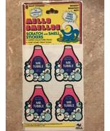 Vintage Mello Smello Scratch N Sniff Mr Tubble Sticker Sheets Rare - $99.99