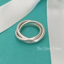 Size 5  Tiffany & Co Sterling Silver Rolling Three 3 Triple Band Ring - $149.00