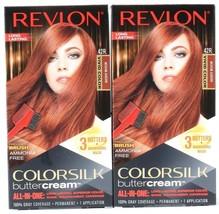 2 Revlon Colorsilk Butter Cream Hair Color 42R Medium Auburn Precision Brush Per - $19.99