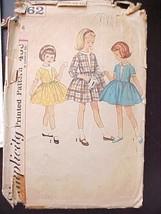 Vintage Sewing Pattern Girls Short Summer Dress 1960 Simplicity 4662 Sz 6 - $7.98