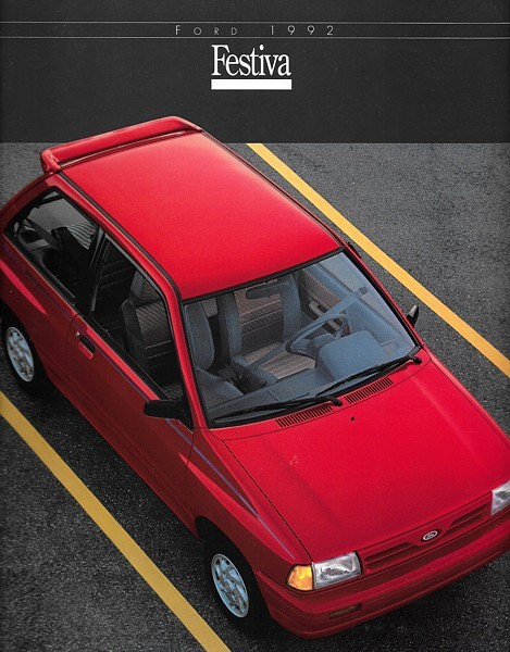 1992 Ford FESTIVA sales brochure catalog 92 US L GL