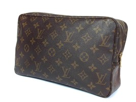 Auth LOUIS VUITTON TROUSSE TOILETTE 28 Monogram Canvas Cosmetic Pouch Ba... - $189.00