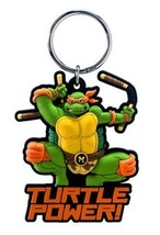 The Teenage Mutant Ninja Turtles Michelangelo PVC Figural Soft Keychain,... - $6.66