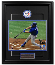 Kendrys Morales Toronto Blue Jays Autographed Baseball Slugger 23x19 Frame - $140.00