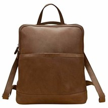 ili New York 6504 Leather Convertible Backpack with Top Handle Toffee