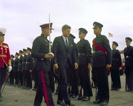 President John F. Kennedy inspects troops after arriving Bermuda New 8x1... - $8.81