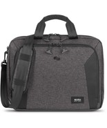 Solo Voyage Carrying Case (Briefcase) for 15.6 Notebook - Gray, Black - ... - $79.63
