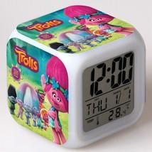 Trolls Toys Movie Cartoon #04 Led Alarm Clock Figures LED Alarm Clock - $25.99