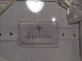 NEW Stephan Baby Pearl White Baptism Photo Album  image 3