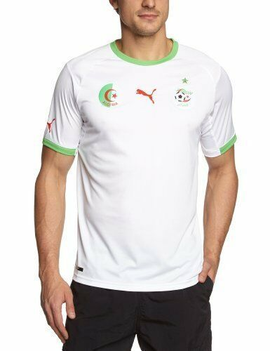 Primary image for $85 Authentic Puma Algeria Home Soccer Jersey 2014-15 Size, M & L. Model: 744628