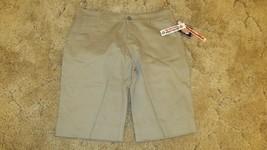 Dickies Girl's Shorts Stretch Fabric Khaki Uniform Pants Size 15 37 x 13 - $12.82