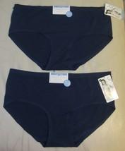 Lot of 2 Jockey Microfiber Seamfree Air Hipster Panty Modern Fit Blue Si... - $12.99