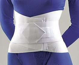 "Lumbar Sacral Support with Abdominal Belt, 10"" Height XX-Large White - $35.50"