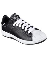 Skechers ALPHA-LITE FAIR SHARE Black & White Leather Retro Sneakers Wms ... - $56.99