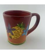 Laurie  Gates Gates Ware Lga128 Yellow Pineapple  Mug Cup Fruit Flowers - $9.41