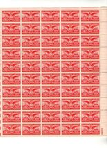 1949 6c Founding of Alexandria Sheet of 50 US Airmail Stamps Catalog C40 MNH