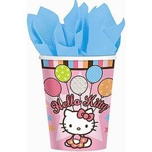 American Greetings Hello Kitty 9-Ounce Paper Party Cups, Balloon Dreams, 8-Count - $5.20