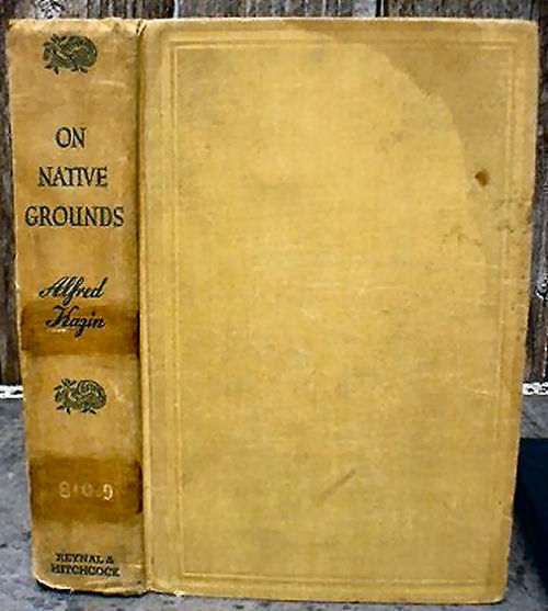 Primary image for On Native Ground Alfred Kazin 1942 American Literature Criticism 1st Ed