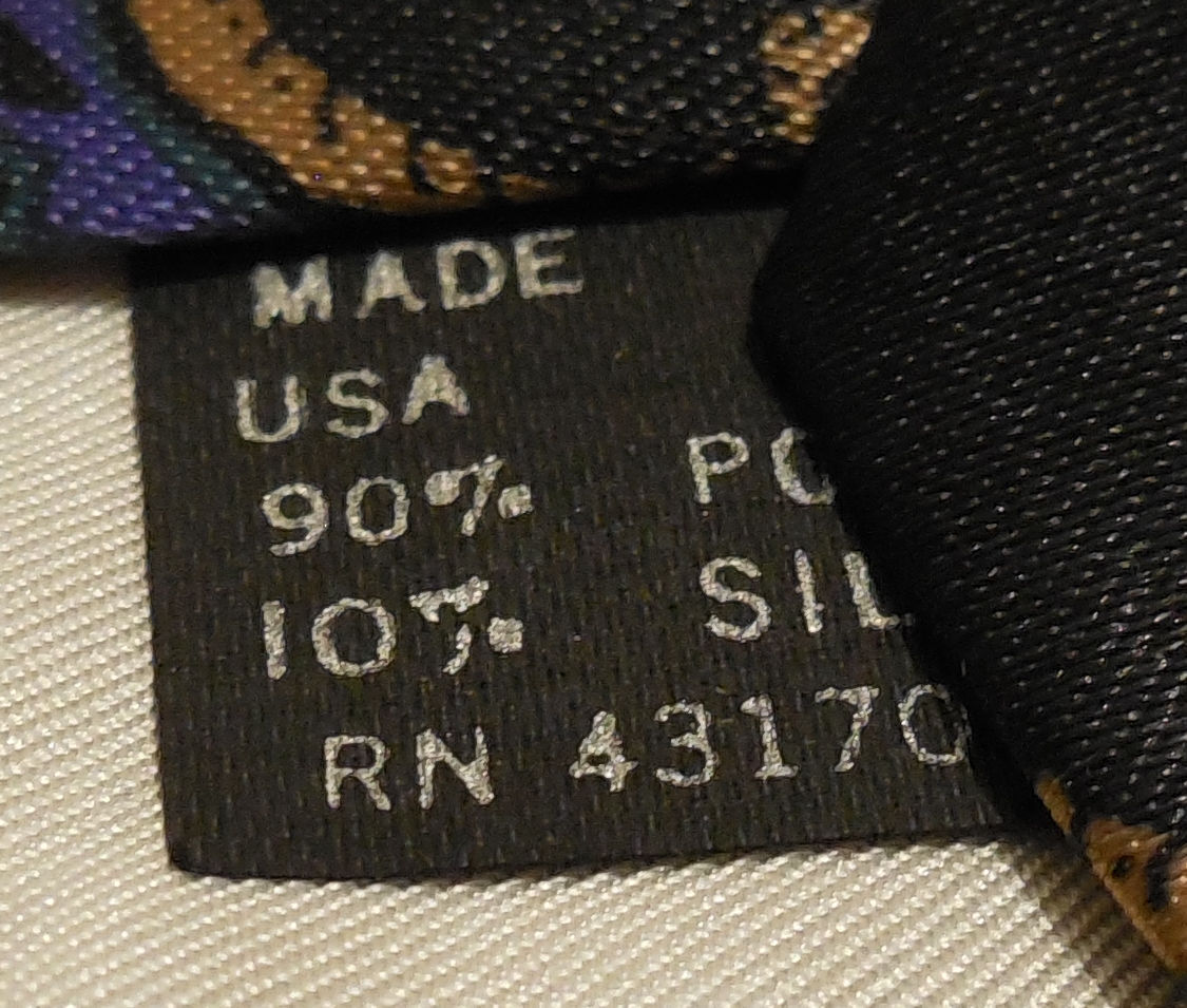 "Mens Geoffery Beene Polyester and silk Neck Tie 58"" long 3 1/2"" wide #3 Necktie image 6"