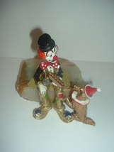 Ron Lee Hobo Clown With Dog and Hotdog 1983 Signed Figurine - $69.99