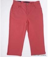 New Gloria Vanderbilt 6 Petite Red Tummy Slimming Amanda Capri Jeans Sma... - $19.95