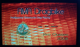 Motorcycle Drag Racing DVD 2008 AMA/DRAGBIKE Pro Class Season Highlights - $10.00