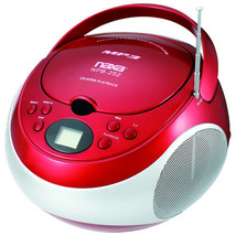 Naxa Portable MP3 CD Player with AM/FM Stereo Radio & AUX in Red | NPB252R - $34.99