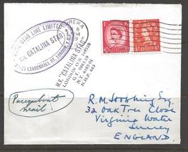 1959 Paquebot Cover, British stamps used in Eureka, California - $5.00