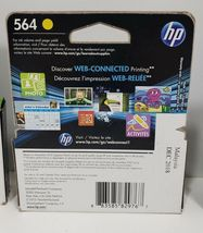HP 564 3 Ink Cartridges. 2 Expired 2018, 1 Expires Feb. 2019. Factory Sealed image 6