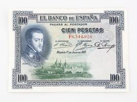 1925 Spain One Hundred Peseta Note XF+ Banco de Espana 100₧ Extra Fine+ ... - $44.55