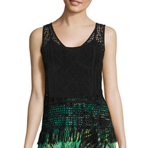 a.n.a V-Neck Crochet Tank Top Size PS, PM, PL, PXL New Msrp $36.00 Black - $14.99