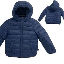 Benetton united colors navy zipper coat size xs 4 - 5 - $16.81