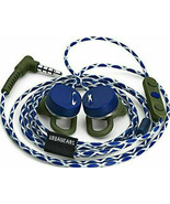 2 TWO New UrbanEars Reimers Trail Apple Phone Blue White earbuds ear bud... - $19.48