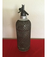 Vintage Sparklets Seltzer Syphon Wire Mesh And Glass Bottle Made In England - $45.00