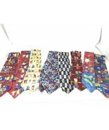 Lot 8 Save the Children For Kids Boys Club Men's 100% Silk Made in USA N... - $28.25