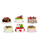 DOLLHOUSE MINIATURES 6PC ASSORTED CAKES SET  #G7447B - $49.99
