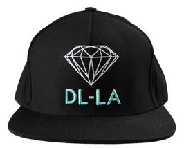 Diamond Supply Co DL-LA Black Aqua Snapback Cotton Hat White Logo Embroidered image 1