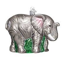 Old World Christmas Ornaments: Large Elephant Glass Blown Ornaments for Christma