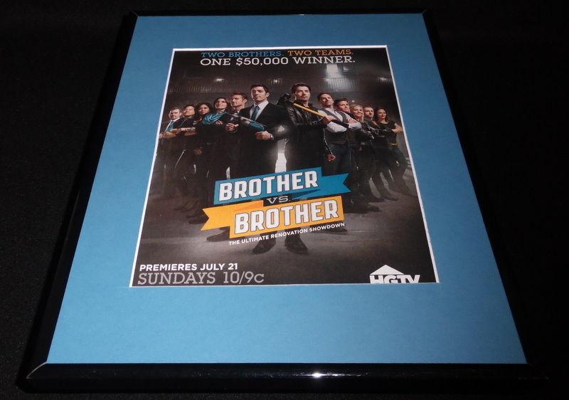 Brother vs Brother 2013 Framed 11x14 ORIGINAL Vintage Advertisement HGTV