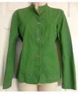 Eileen Fisher Green Light Weight Jean Jacket Size XS SNAP BUTTON UP. - $17.59