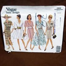 Vtg Vogue Pattern Basic Design #2902 Size 8 10 12 Misses Petite Dress Va... - $12.99